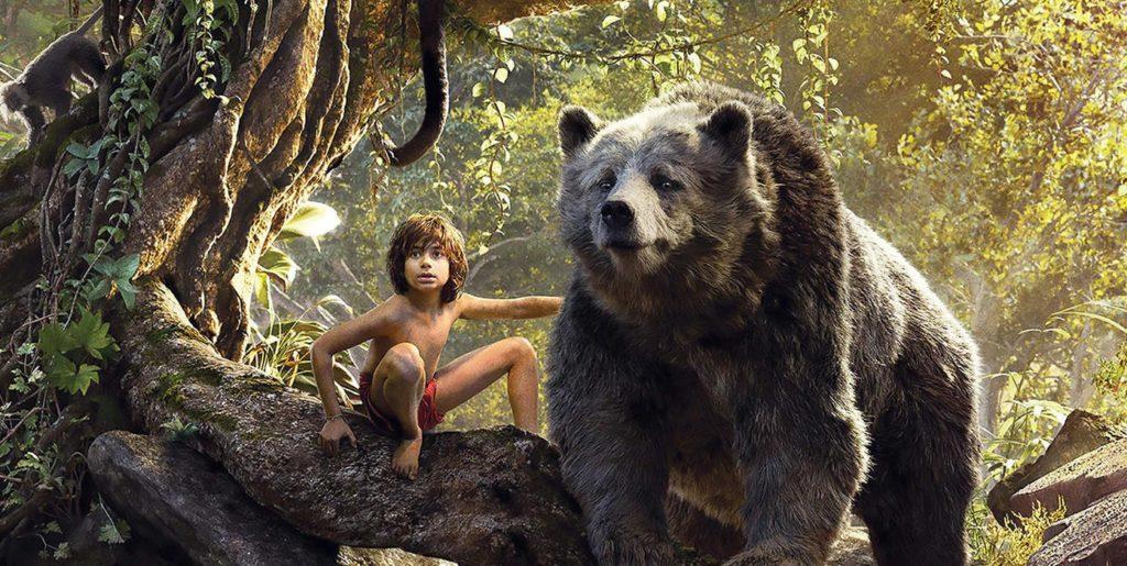 księga dżungli Mowglie i niedźwiedź