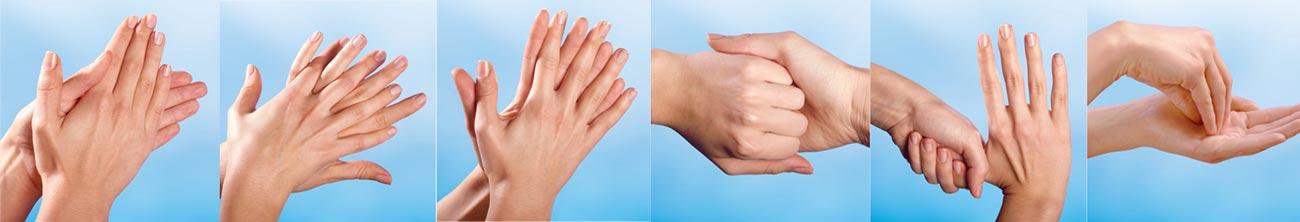 etapy mycia rąk